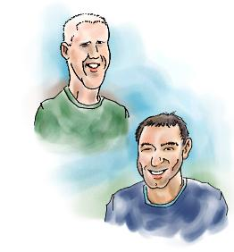 Ian Moore & Mike Dicey Caricatures - � Mike Dicey